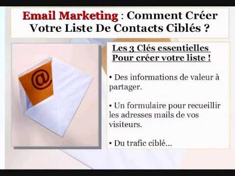 e mailing - http://bit.ly/eKEPXe Email marketing ! Voici deux mots qui permettent  de nombreux affilis et vendeurs en ligne de gnrer un revenu rgulier sur Internet....
