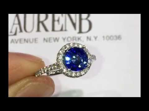 How we make Sapphire Engagement Ring with Diamond Halo
