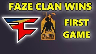 PUBG - FAZE CLAN WINS FIRST GAME - PGL-PUBG Fall Invitational 2018