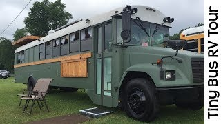 Video Spectacular Tour Of Tiny House School Bus RV Conversion Camper MP3, 3GP, MP4, WEBM, AVI, FLV Juli 2019