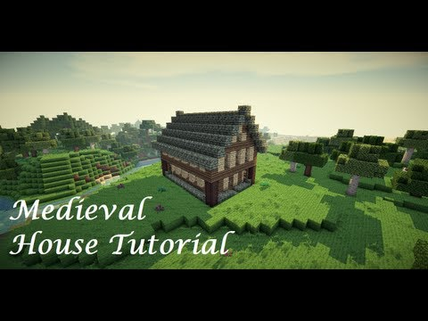 Minecraft medieval style house vid tutorial minecraft for Classic house tutorial
