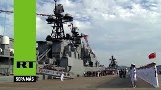 Rusia y China realizan maniobras navales en el mar en disputa