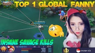 Video Learning From Top 1 Global Fanny | Insane SAVAGE KILL Gameplay - Mobile Legends Top Build MP3, 3GP, MP4, WEBM, AVI, FLV September 2017