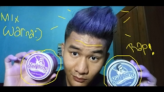Review Suavecito hair clay color, pomade?. wax berwarna #2 || tutorial mix Colour & cara pake lembut