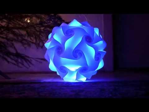 Ukázka světla Moon light v kombinaci s barevnou LED žárovkou