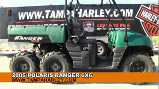 6. USED 2005 Polaris Ranger 6X6 UTV for sale