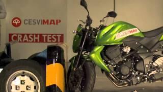 crash test Kawasaki 750