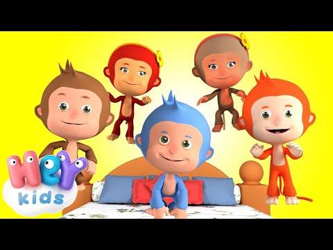 Пять Маленьких Обезьянок - Учимся считать - Детские песни (видео)