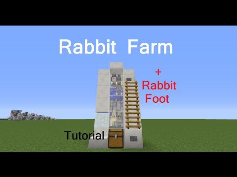 Rabbit Farm (+Rabbit's Foot) Minecraft Project