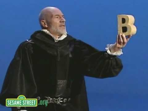 Patrick Stewart Soliloquy on B (Sesame Street)