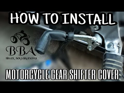 HOW TO INSTALL MOTORCYCLE GEAR SHIFTER COVER/SHOE PROTECTOR