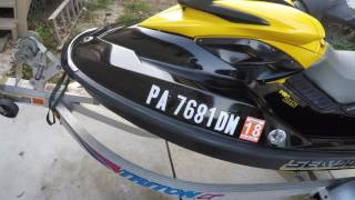 10. My 2007 seadoo rxp 215 compounded waxed new mats