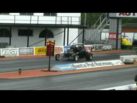 Andy Fadster 8.9 sec run, Street Legal T Bucket