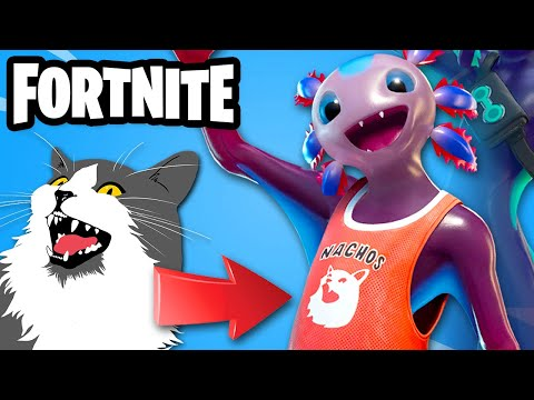 Is My Cat Otto in Fortnite? New Axo Skin! - Fortnite - Gameplay Part 108