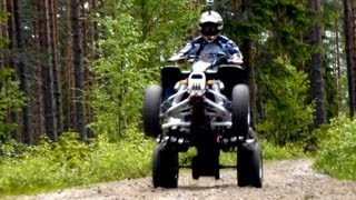 10. Suzuki LTZ 400 in the forests of Enviken [HD]