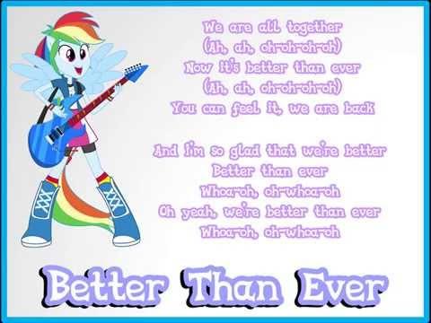 MLP: Rainbow Rocks - Better Than Ever ( Lyric )
