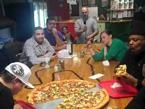 $500 PIZZA CONTEST LARRY LOVE AKA RAINY BOI HU$TLA & RYAN CHAPPELL