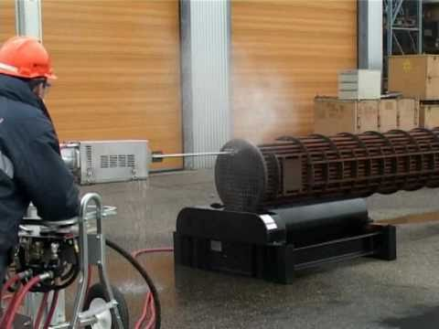 Hőcserélő tisztítás előtoló berendezéssel