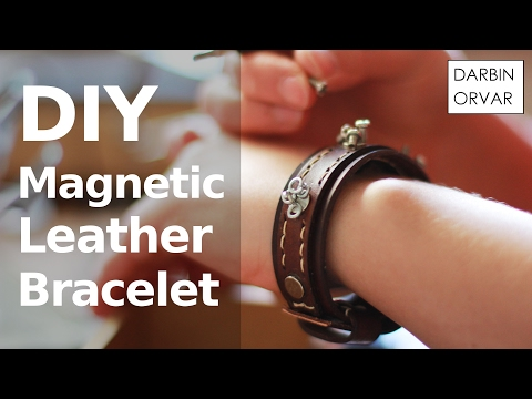 DIY Leather Bracelet w/ Magnets