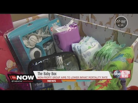 Tampa non-profit works to lower infant mortality rate with baby box