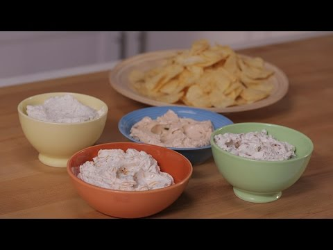 Sour Cream Dip 4 Ways