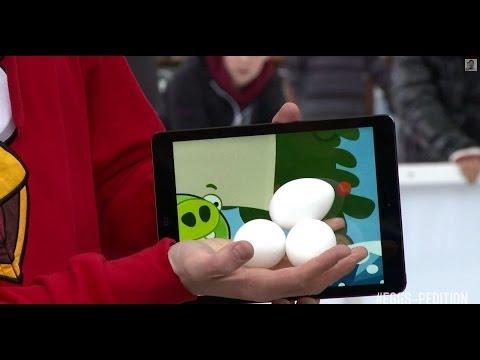 Ảo thuật Magic .Lấy trứng ra từ trò chơi Angry Birds trên iPad