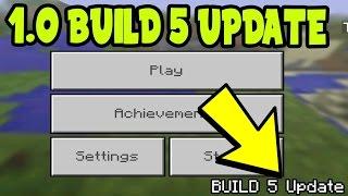 MCPE 1.0 UPDATE Build 5 Alpha RELEASE!? - Minecraft Pocket Edition (1.0 Update Build 5)