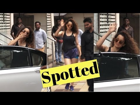 Kangana Ranaut spotted at Arts in Motion Studios For her sword fighting training