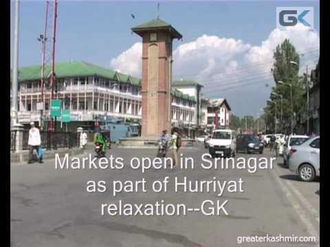 Markets open in Srinagar as part of Hurriyat relaxation
