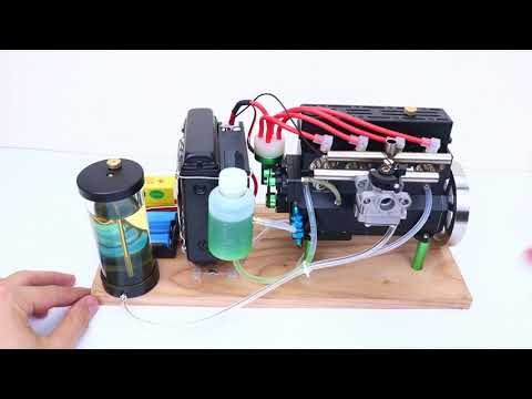 32cc Inline Four Cylinder Water Cooled Gasoline Engine for RC Car