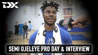 Semi Ojeleye Pro Day Workout and Interview