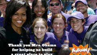 First Lady Michelle Obama Teams Up With KaBOOM!