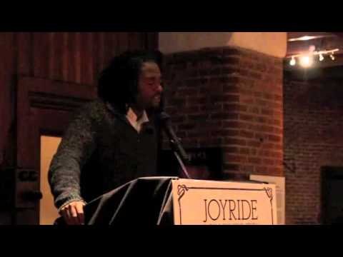 Reginald Dwayne Betts speaks at Joyride, Grub Street's annual fundraising gala