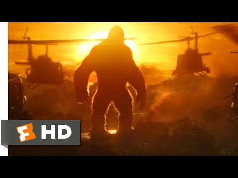 Kong: Skull Island (2017) - Kong vs. Helicopters Scene (1/10)   Movieclips