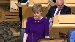 First Minister S Questions   Scottish Parliament  14th May 2015