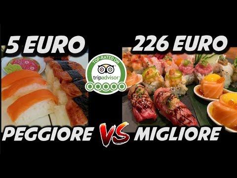 MIGLIOR SUSHI VS PEGGIOR SUSHI DI MILANO - 5€ VS 226€