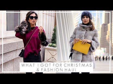 WINTER FASHION HAUL & WHAT I GOT FOR CHRISTMAS | High Street and & Designer Fa… видео
