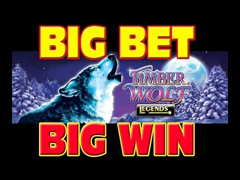 Timber Wolf Legends BIG BET + MEGA WIN Las Vegas Slot Machine Winner