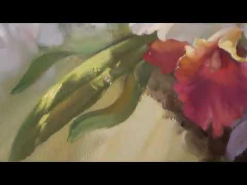 Artist Igor Sacharow. Learning to Orchideen Zeichnen New Bob Ross