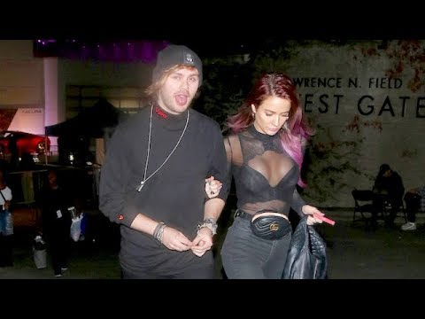 Michael Clifford Of 5SOS And Crystal Leigh Leaving The Post Malone Concert