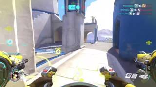 Enemy Tracer ulting and only killing herself plus BM from Dva