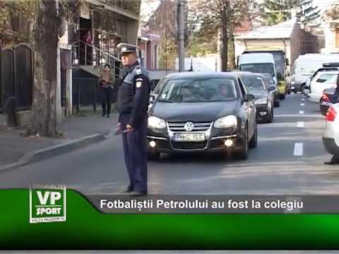 Fotbaliștii Petrolului au fost la colegiu