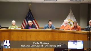 Rochester City Council Monthly Meeting