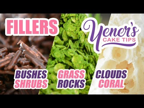 How to Make FILLERS (Bushes, Clouds, Rocks) for Cake Decorating | Yeners Cake Tips | Yeners Way