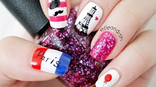 Paris Nails (...please DO NOT repeat my reversed flag mistake! Found out after uploading) - YouTube