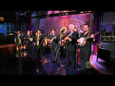 "Preservation Hall Jazz Band & The Del McCoury Band ""I'll Fly Away"" on Letterman"