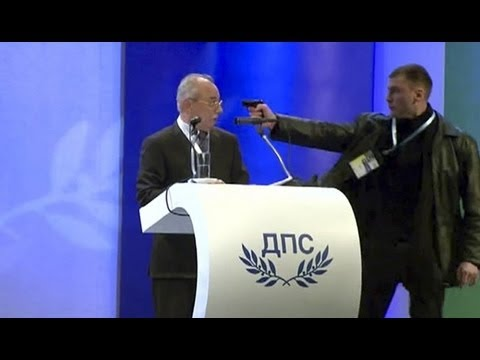 assassination - Ahmed Dogan Assassination Attempt. INCREDIBLE VIDEO - Bulgaria Bulgarian Politician | Failed Assassination Attempt Failed assassination attempt on Ahmed Doga...