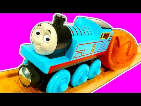 thomas - Thomas The Tank and Timothy star in Thomas's Fossil Run wooden railway train set based on Thomas And Friends DVD Tale Of The Brave. There is a Dinosaur dig with Dinosaur fossils to uncover...