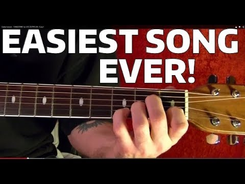 How to Play the EASIEST Song Ever In the History of Rock!! Guitar Lesson
