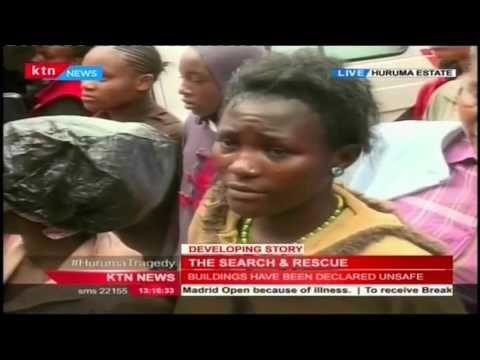 KTN's Mitchelle Ngele with update from Huruma where a building collapsed killing 8 people
